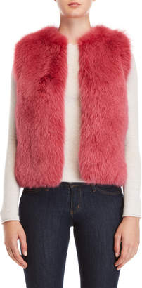 Yves Salomon Meteo By Pink Real Fur Vest