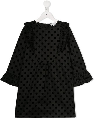 Stella McCartney flocked polka dot dress