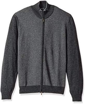 Bugatchi Men's Polyamide Long Sleeve Cardigan Sweater