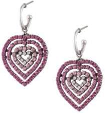 Dannijo Constance Heart Drop Earrings