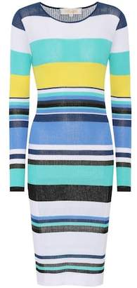 Diane von Furstenberg Striped rib-knit midi dress