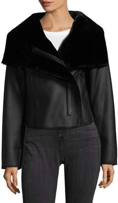 BCBGMAXAZRIA Women's Clint Faux Fur Jacket