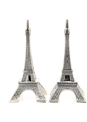 Godinger Eiffel Tower Set Of Two Silver-Plated Salt & Pepper Shakers