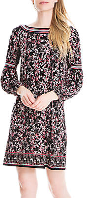 Max Studio Floral Print Jersey Dress, Black/Multi