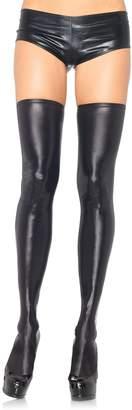 Leg Avenue Women's Wet Look Thigh High Stockings