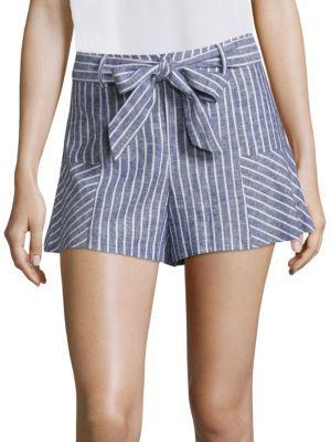 Parker Fanny Striped Shorts $198 thestylecure.com