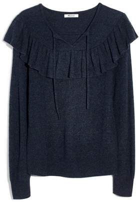 Madewell Ruffled Tie Front Pullover Sweater