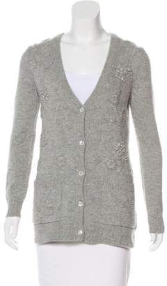 Michael Kors Cashmere Embroidered Cardigan