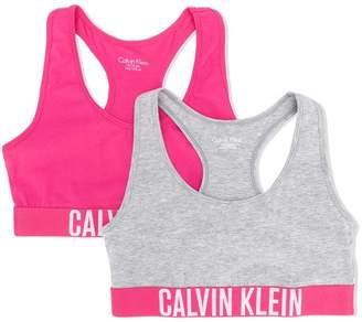 Calvin Klein Kids TEEN logo bralette two pack