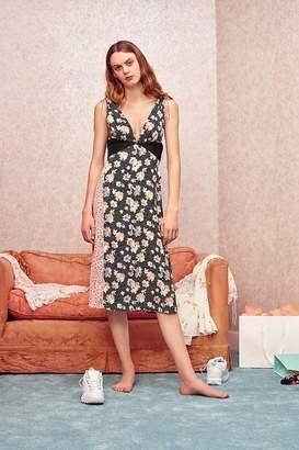 Urban Outfitters Ryker Mixed Print Midi Dress