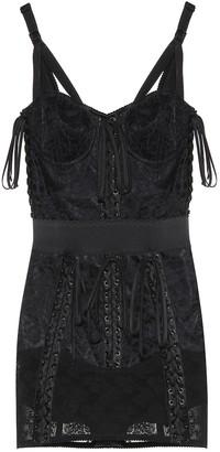 Dolce & Gabbana Lace-trimmed minidress