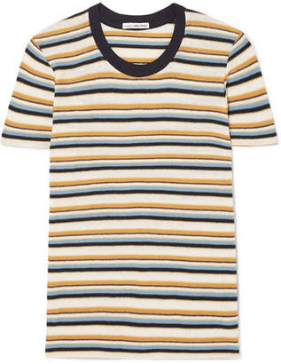 James Perse Vintage Boy Striped Cotton-blend Jersey T-shirt - Yellow