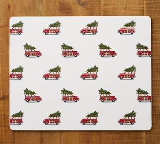Pottery Barn Woody Car Rectangle Cork Placemat, Set of 4