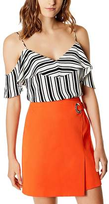 Karen Millen Cold-Shoulder Striped Camisole