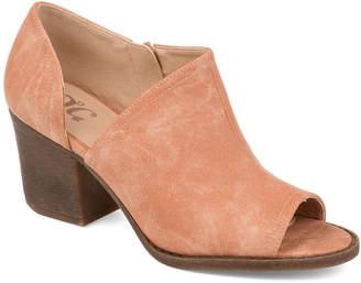 Journee Collection Womens Jc Hartli Booties Stacked Heel Zip