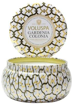 Voluspa Maison Blanc Gardenia Colonia Maison Metallo Two-Wick Candle