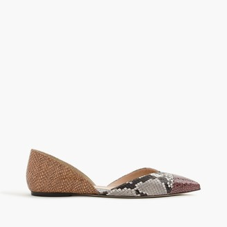 Sadie flats in snakeskin-printed leather $118 thestylecure.com