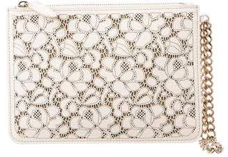Ralph Lauren Laser-Cut Leather Clutch