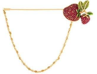Dolce & Gabbana Crystal Strawberry Brooch Pin