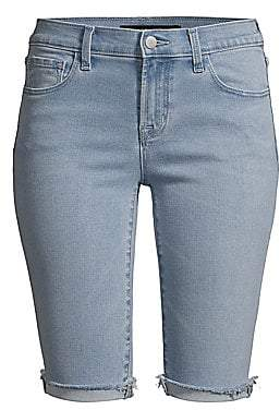 J Brand Women's 811 Medium Wash Denim Bermuda Shorts