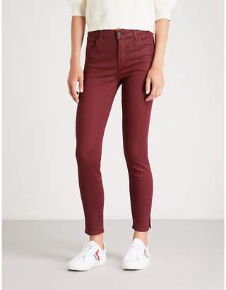 J Brand Alana skinny high-rise coated jeans