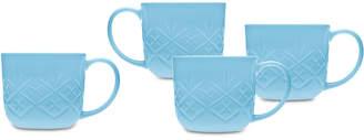 Godinger Dublin Blue 4-Pc. Mug Set
