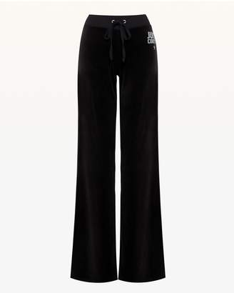 Juicy Couture Crystal Starburst Velour Del Rey Pant