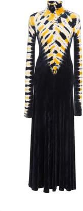 Proenza Schouler Velvet Jersey Tie-Dye Turtleneck Dress