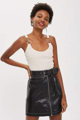 Topshop Hardware Strap Crop Top