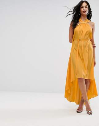 Aq/Aq AQ AQ Halterneck Maxi Dress With Hardware Detail