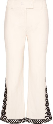 Tory Burch EMBROIDERED PANT