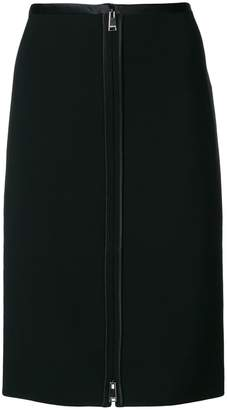 Versace zip front pencil skirt