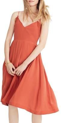 Madewell Fern Silk Faux Wrap Dress
