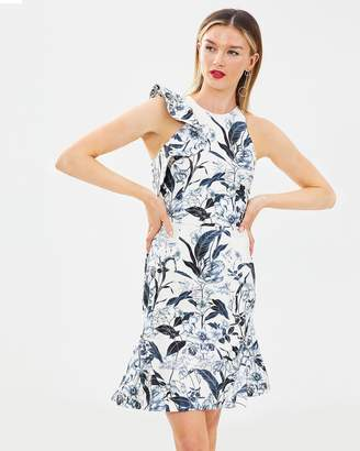 Cooper St Vanilla High Neck Fitted Dress