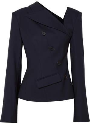 Monse Asymmetric Wool-blend Twill Blazer - Navy
