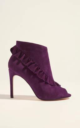 Karen Millen Suede Frill Shoe Boots