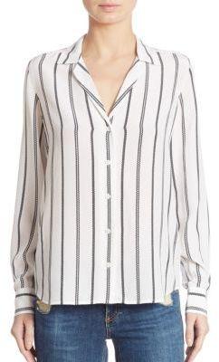 Equipment Adalyn Striped Silk Shirt $258 thestylecure.com