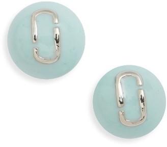 Women's Marc Jacobs Icon Enamel Ball Stud Earrings $45 thestylecure.com