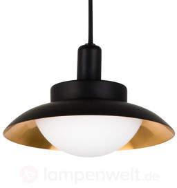 LED-Pendellampe Side schwarz, innen kupfer