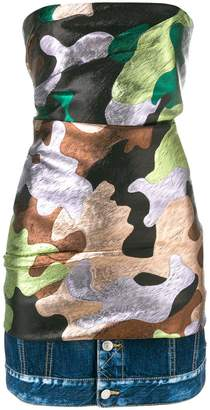 DSQUARED2 camouflage print mini dress