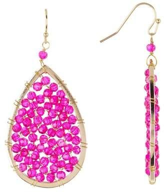 Panacea Hot Pink Crystal Teardrop Earrings