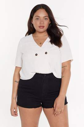 Nasty Gal Button Front Boxy Shirt