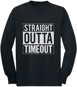 Timeout TeeStars - Straight Outta Funny Toddler/Kids Long sleeve T-Shirt