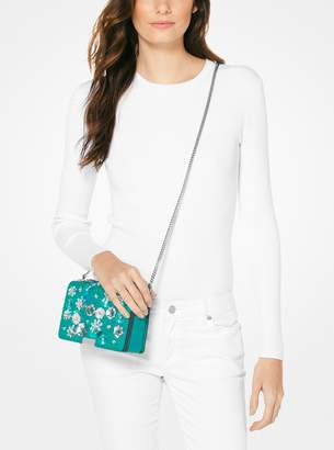 MICHAEL Michael Kors Jade Floral Sequined Leather Clutch