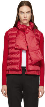 Moncler Red Down and Knit Jacket