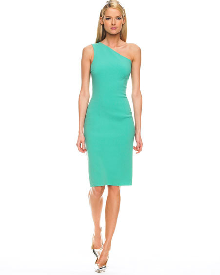 Michael Kors One-Shoulder Sheath Dress