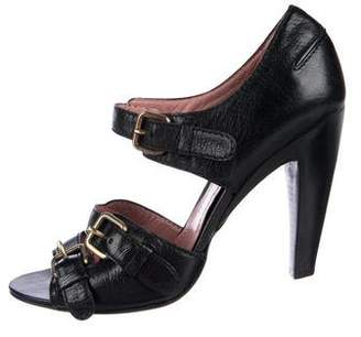 Derek Lam Leather Ankle-Strap Sandals
