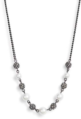 Givenchy Bead & Crystal Frontal Necklace