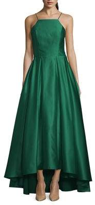Betsy & Adam Halter Hi-Low Ball Gown