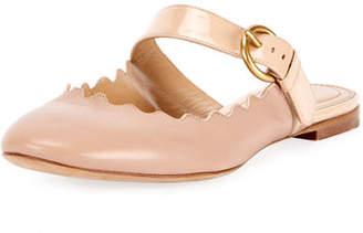 Chloé Lauren Flat Leather Mary Jane Slide